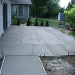patio in backyard and Concrete patio