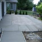 patio in backyard and Concrete patio